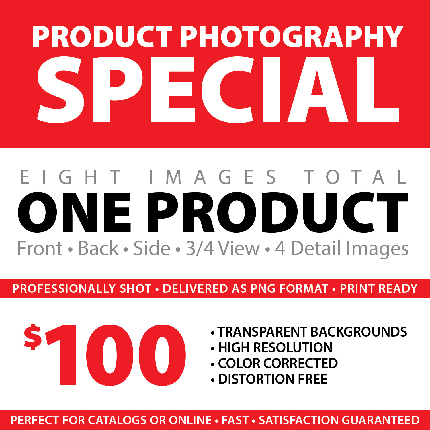 PRODUCT PHOTOGRAPHY SPECIAL