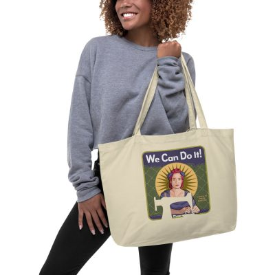 Mindy Mask Maker—Large organic tote bag